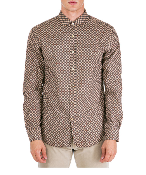 Camicia AT.P.CO carl a196carl sa04 marrone260