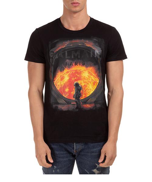 T-shirt Balmain uh01601i371aaa nero
