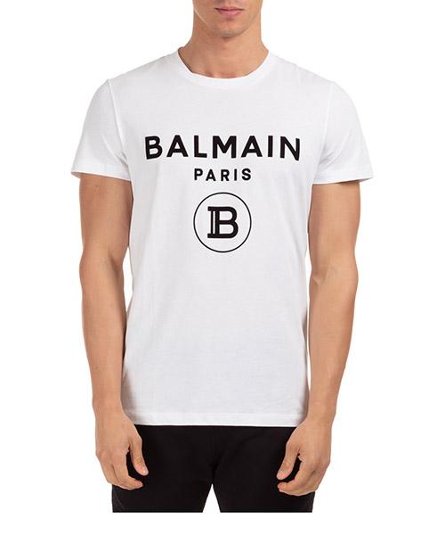 T-shirt Balmain uh01601i3940fa bianco