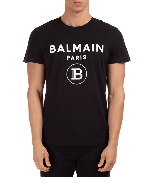 T-shirt Balmain uh01601i3940pa nero