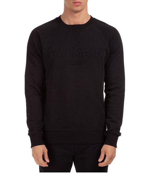 Sweatshirt Balmain uh03279i3350pa nero