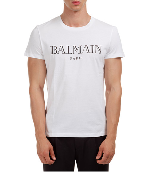 T-shirt Balmain UH11601I312GAB bianco