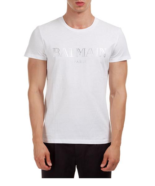 T-shirt Balmain UH11601I312GAC bianco