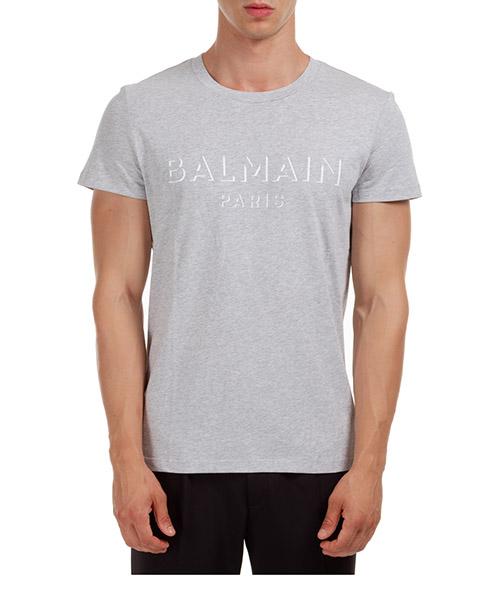 T-shirt Balmain UH11601I3649UB grigio
