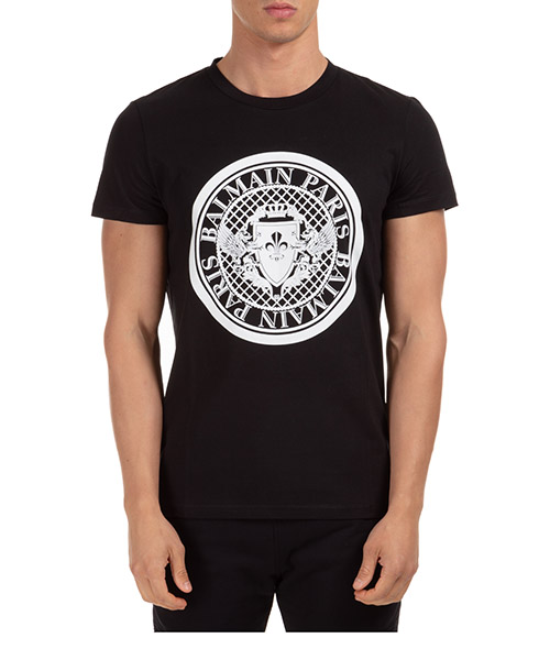 T-shirt Balmain uh11601i380eab nero