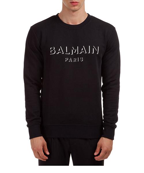 Sweatshirt Balmain UH13277I3640PA nero