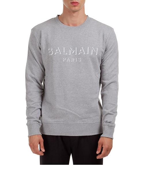 Sweatshirt Balmain UH13277I3649UB grigio