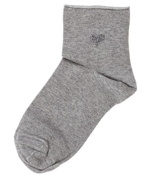 Calcetines tobilleros Be Soft Cuore CUO1GRIDUVC grigio