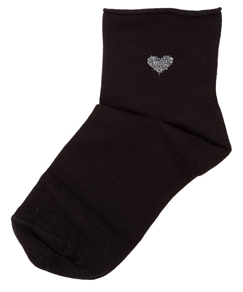 Ankle socks Be Soft Cuore CUO1NERDUVC nero