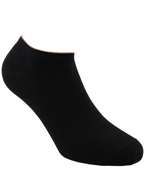 Invisible socks Be Soft polsino arancio PLA1NERDUFC nero