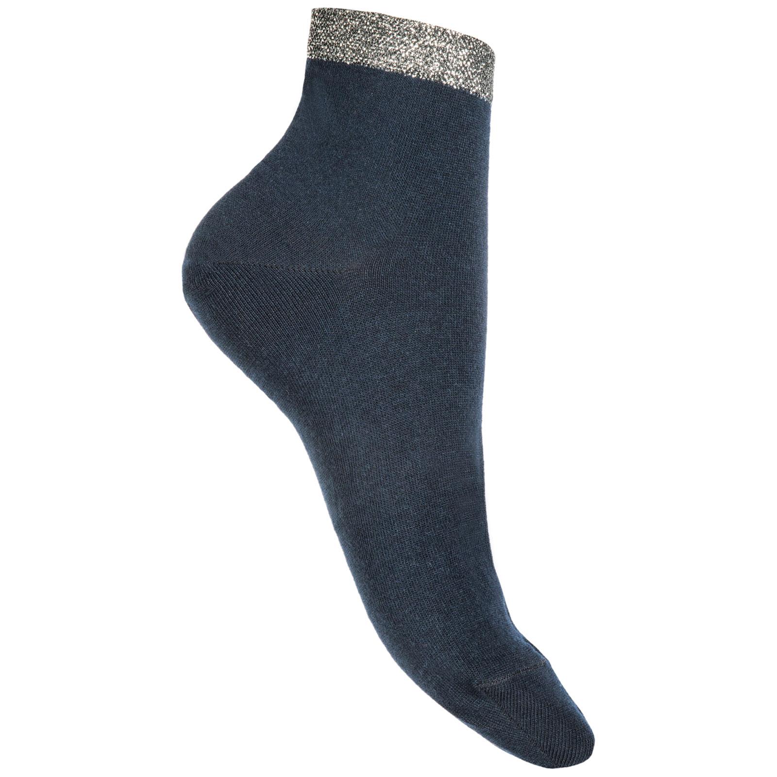 Ankle socks woman polsino silver