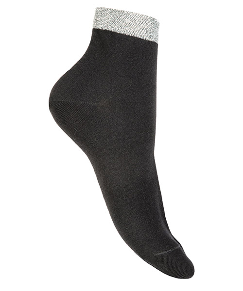 Ankle socks Be Soft polsino argento PLA2NERDUVX nero