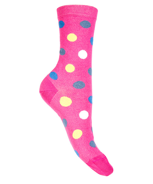 Kurze Socken Be Soft pois medi POI2FUCDUCC fucsia