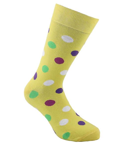 Kurze Socken Be Soft pois medi POI2GIAUUCC giallo