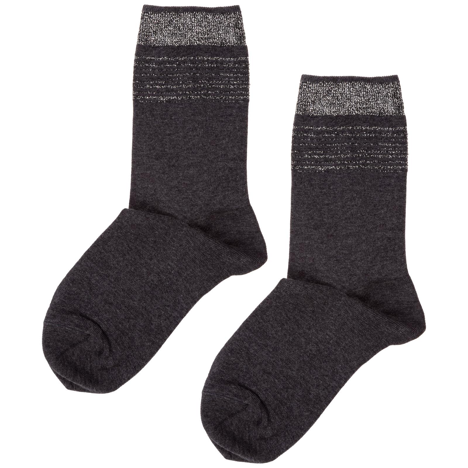 Low socks woman cuff lines