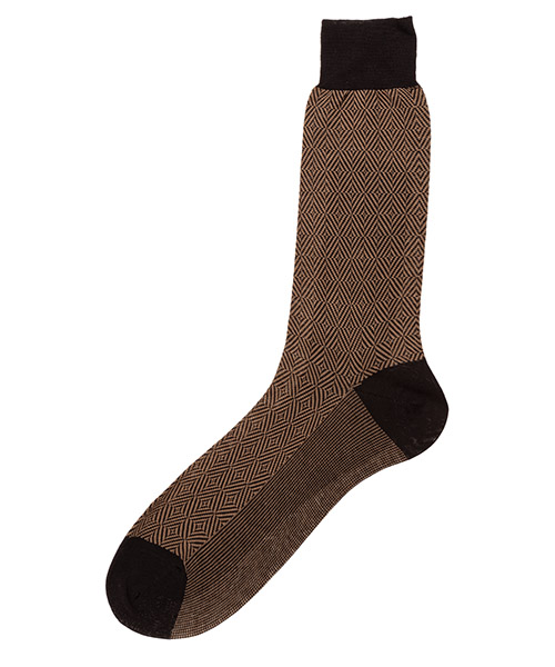 Low socks Be Soft rombi concentrici ROM4BEGUMCF beige