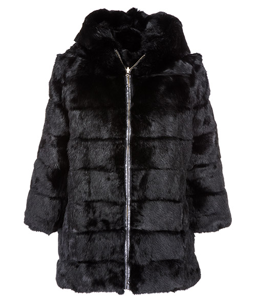 Fur jacket  Blugirl 6788 140 nero