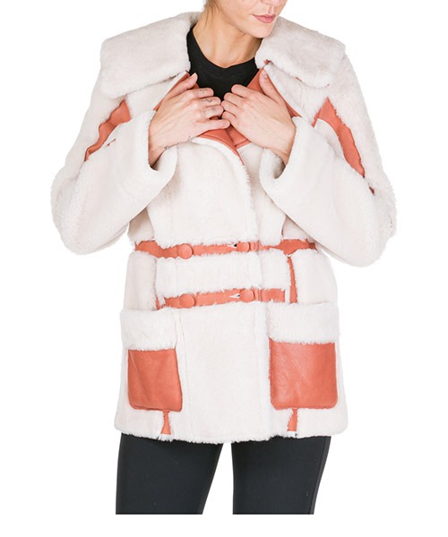 Меховая куртка Blumarine 4112 02439 bianco