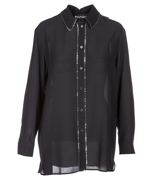 Camicia Boutique Moschino A021058370555 nero