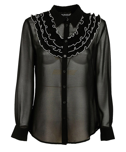 Camicia Boutique Moschino A023461381555 nero
