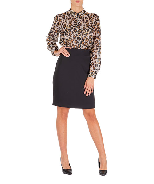 Vestito al ginocchio Boutique Moschino a044558531009 marrone