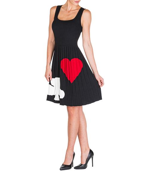Vestito al ginocchio Boutique Moschino a048061021555 nero