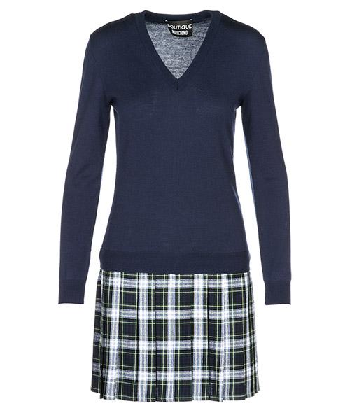 Vestito al ginocchio Boutique Moschino A049158002290 blu