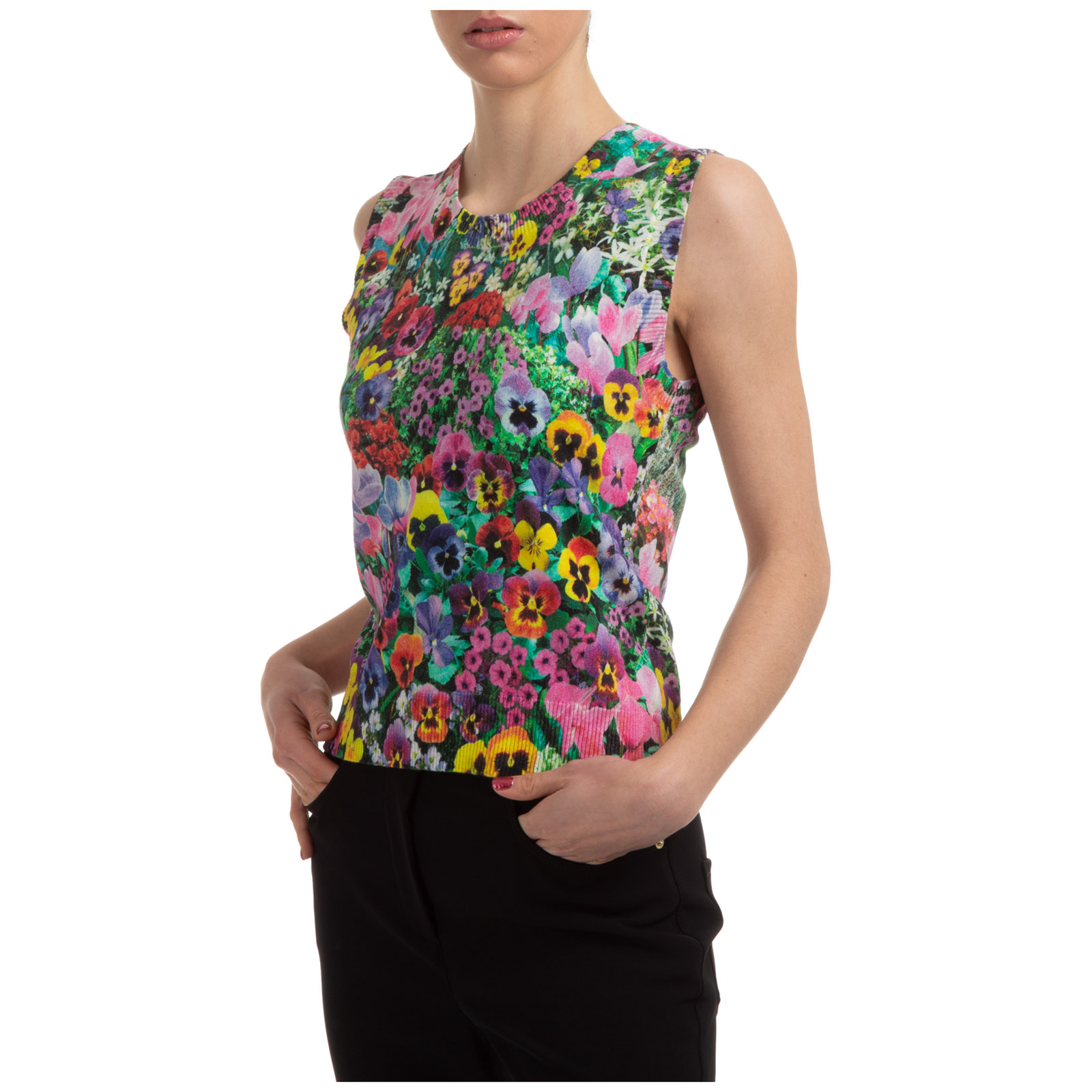 Boutique Moschino Cottons WOMEN'S TOP SLEEVELESS