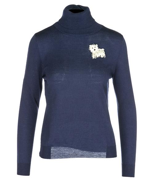Maglione collo alto Boutique Moschino A09035800290 blu