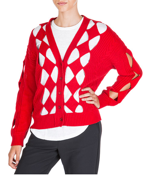 Strickjacke Boutique Moschino a09226101115 rosso
