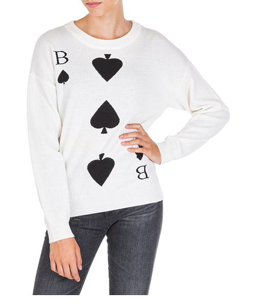 Pull Boutique Moschino A092461040002 bianco