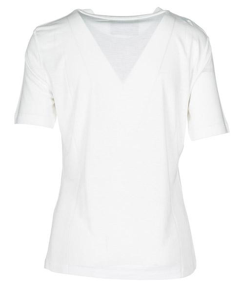 Damen t-shirt rundhalsausschnitt kurze Ärmele secondary image