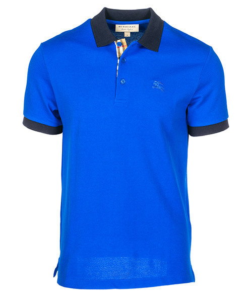 Polo t-shirt Burberry Hartford 80009151 cerulean blue