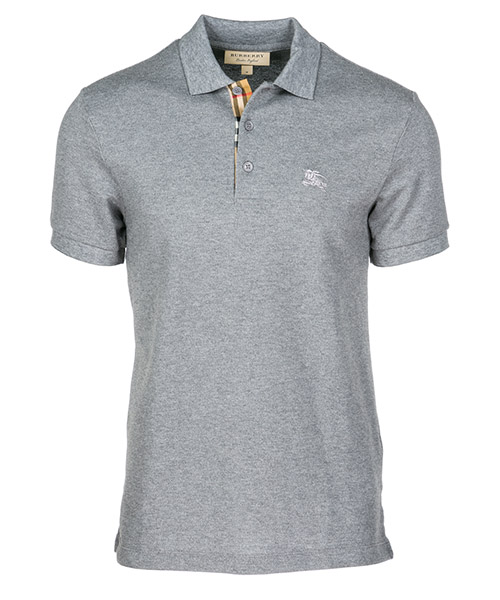 Polo t-shirt Burberry Hartford 80009161 grigio