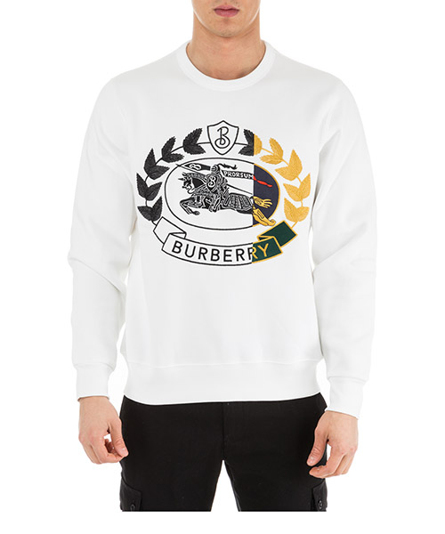 Sweat Burberry 80070741 bianco
