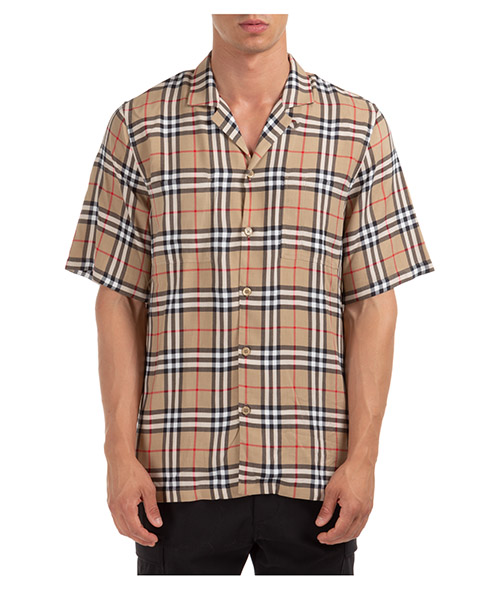 Chemise manche courte Burberry raymouth 80258211 archive beige