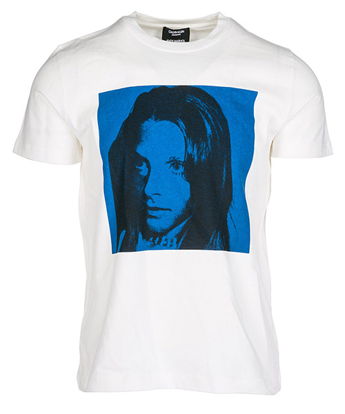T-shirt Calvin Klein 82WWTB71 white nautical blue