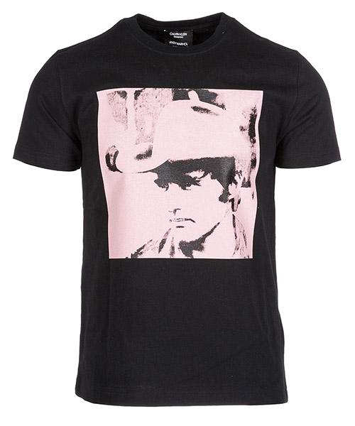 T-shirt Calvin Klein 82WWTC08 black zephyr