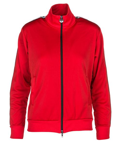 Zip sweatshirt  Chiara Ferragni Logomania CFF039_008 red