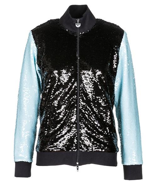 Zip sweatshirt  Chiara Ferragni Logomania 18AI-CFF041_00001 nero