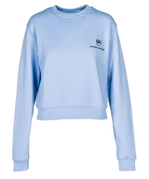 Sweatshirt Chiara Ferragni Logomania 18AI-CFF051_00006 celeste / sky
