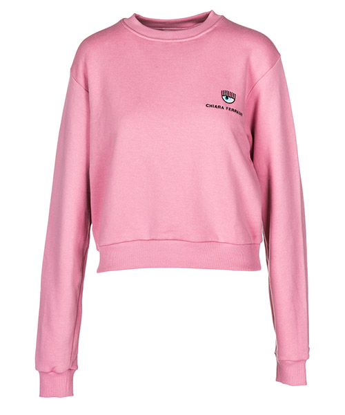 Sweatshirt Chiara Ferragni Logomania 18AI-CFF051_00002 pink