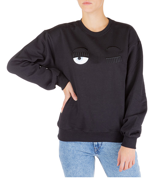 Sweatshirt Chiara Ferragni Flirting CFF082 NERO nero