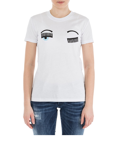 Women's t-shirt short sleeve crew neck round flirting