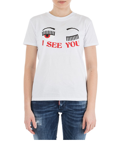 T-shirt Chiara Ferragni I see you CFT061.BIANCO bianco