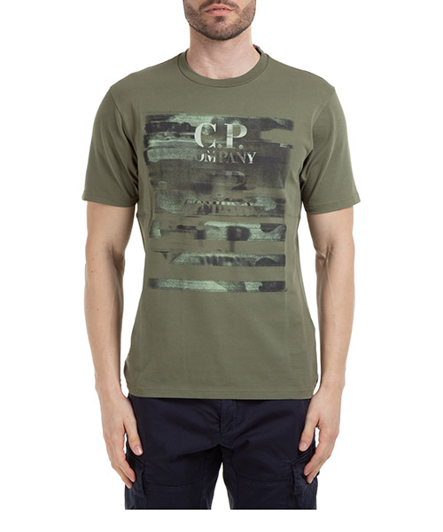 T-shirt C.P. Company 08cmts336a005621w66 verde