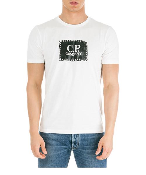 T-shirt C.P. Company 06CMTS042A005100W bianco