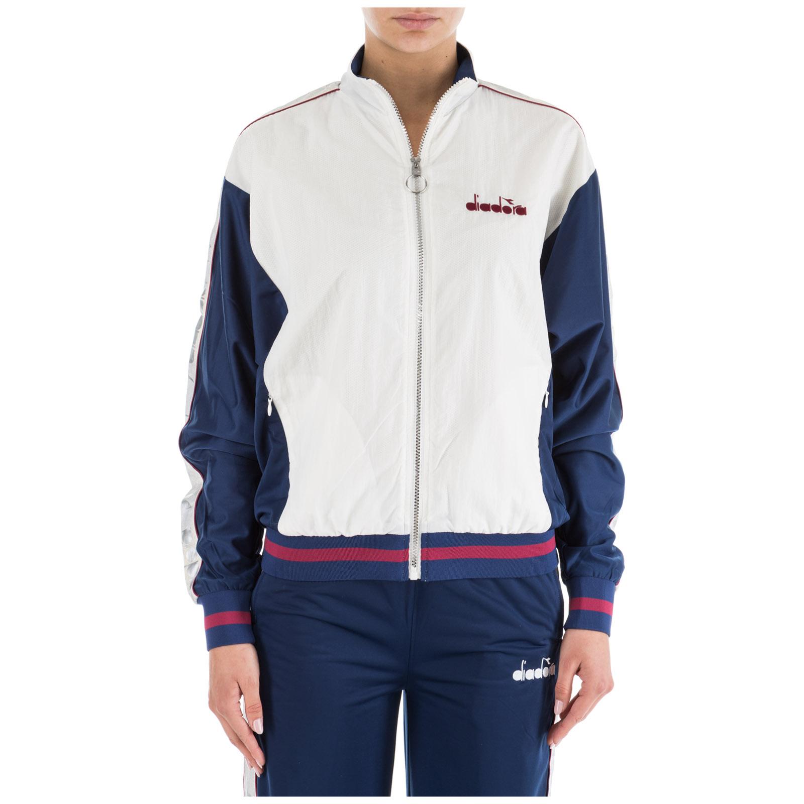 Sweatshirt Mit Zip Diadora 502 173640 Bianco Frmoda Com