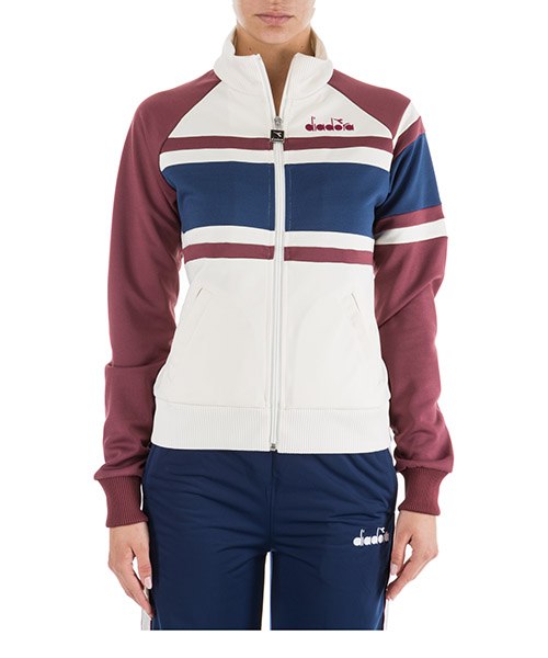 Sweat avec zip  Diadora 502.172684 bianco