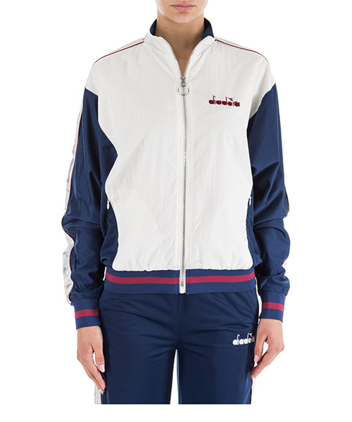 Sweat avec zip  Diadora 502.173640 bianco